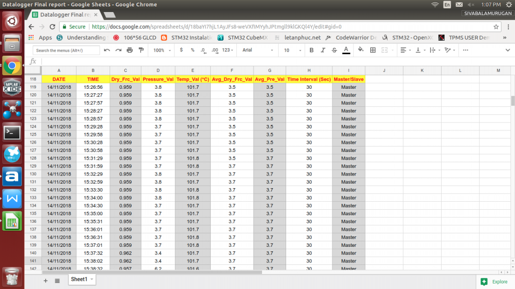 Sosaley Data Logger Data View