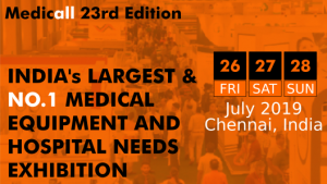 sosaley participating in medicall chennai 2019